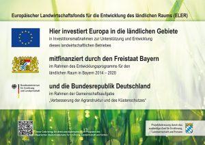Tafel Europäischer Landwirtschaftsfonds für die Entwicklung des ländlichen Raums (ELER)